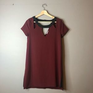 Guess red black dress size small cut out